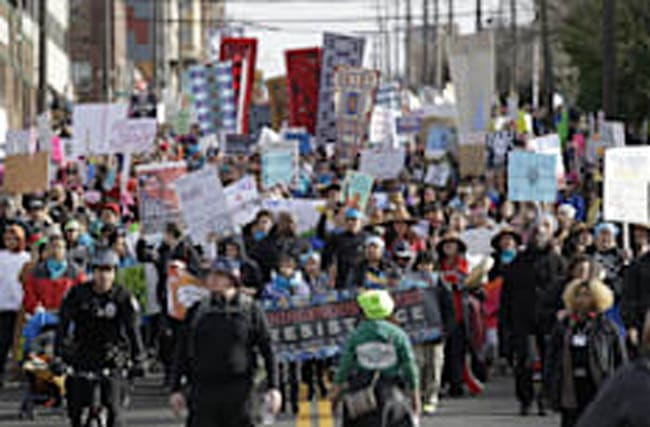 Manifestations mondiales contre Donald Trump