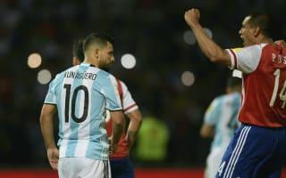 Argentina 0 Paraguay 1: Aguero misses penalty as Arce's men secure historic win