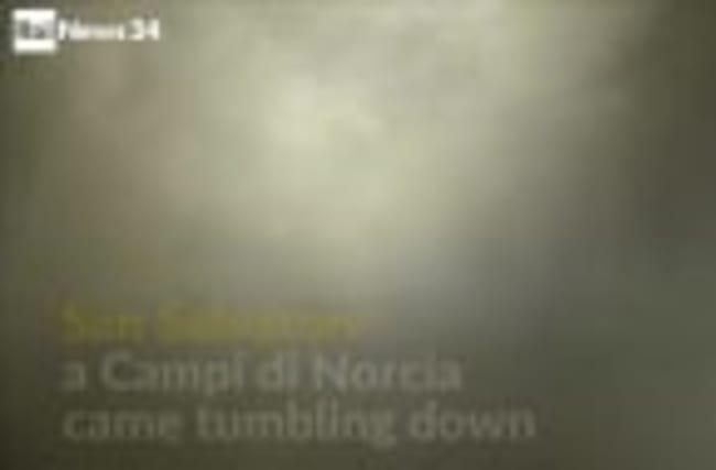 14th century Italian church collapse caught on camera