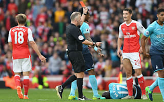 It was a dark yellow card - Wenger says Barrow made a lot of harsh Xhaka red
