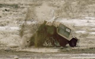 A-10 jets destroy Humvees in US air force target practice