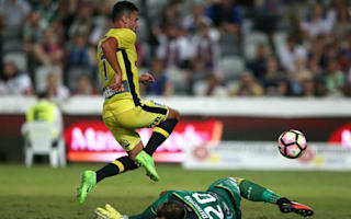 Central Coast Mariners 2 Newcastle Jets 0: Montgomery, Ferreira seal derby bragging rights