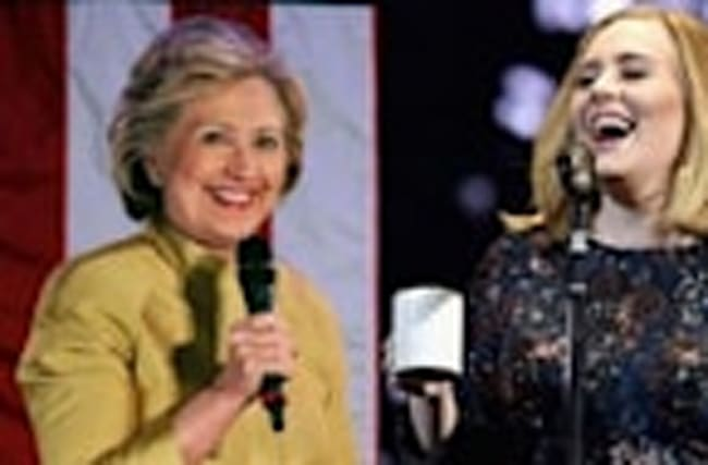Adele Endorses Hillary Clinton At Miami Concert With Her In Audience & DISSES Tr