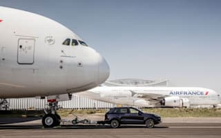 Porsche tows Airbus A380 in record-breaking stunt