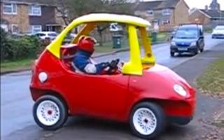 Mechanic creates life-size Little Tikes Cozy Coupe
