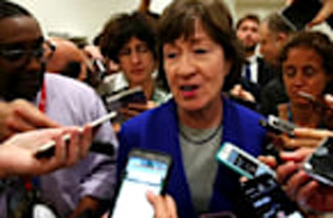 Republican Collins has 'serious concerns' on healthcare bill