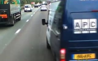 Van driver given ban after M60 road rage incident