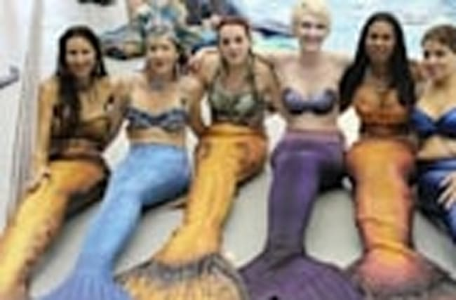 People are working professionally as mermaids