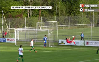 Defender scores spectacular overhead own goal from ridiculous angle