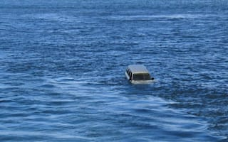 Car rolls off ferry into sea