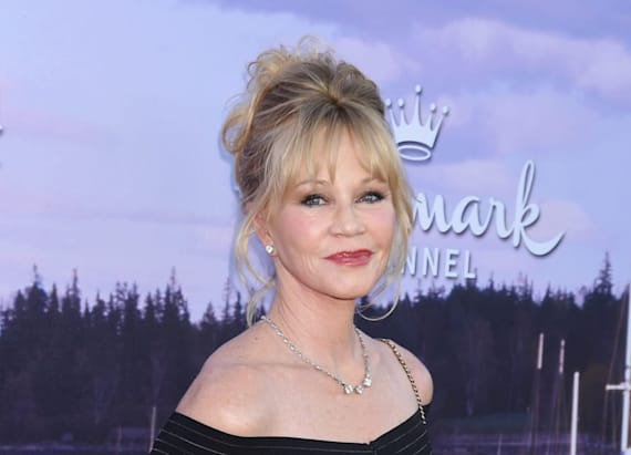 Melanie Griffith lets it all hang out in sheer dress