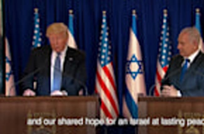 "Trump meets Netanyahu and talks of ""unbreakable"" US-Israel bond"