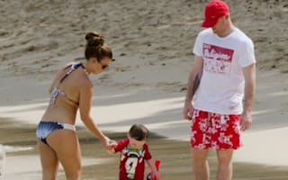 Coleen and Wayne Rooney hit the beach in Barbados