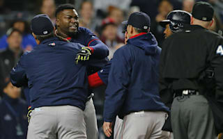 Ortiz held back from umpire in meltdown against Yankees