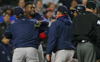 Ortiz held back from umpire in meltdown against Yankees