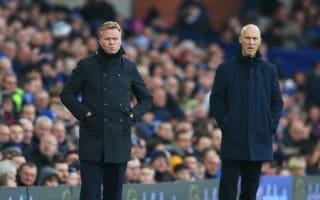 Koeman angry at Everton's first-half performance