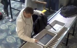 Video: Man steals woman's Rolex watch out of airport security tray