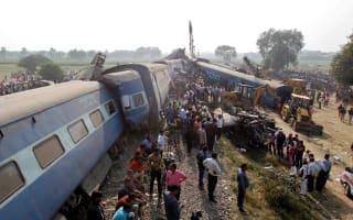 Train derailment in India leaves 90 dead