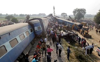 Train derailment in India leaves 90 dead