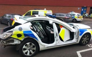 Suspected drink-driver ploughs into police car