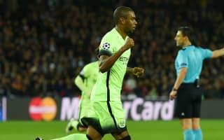 Paris Saint-Germain 2 Manchester City 2: Fernandinho earns Pellegrini's men a draw