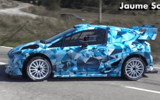 Ford tests ballistic new Fiesta WRC car