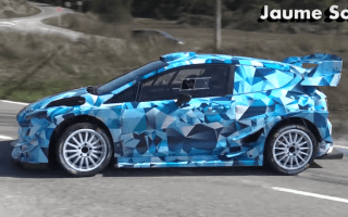 Ford tests ballistic new Fiesta WRC car