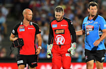 Nevill suffers suspected fractured jaw after being struck by flying bat