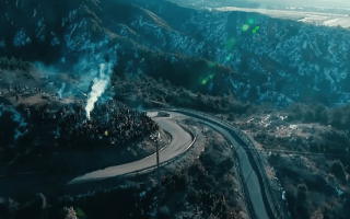Rallying looks spectacular from the air