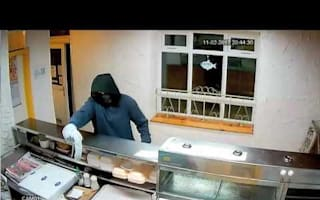 Hapless thief has no luck at fish and chip shop