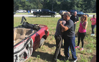 Good Samaritans rescue crash victim from overturned car