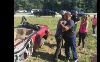 Good Samaritans rescue crash victim from overturned car