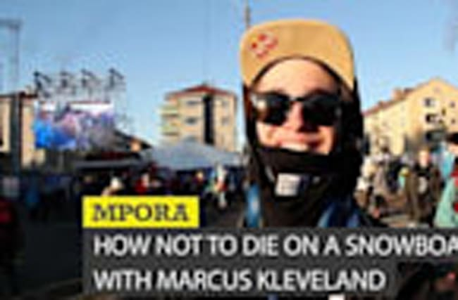 How Not To Die on A Snowboard with Marcus Kleveland