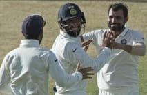 Shami revels in Test comeback as India dominate