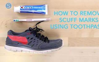 How to remove scuff marks from your shoes using toothpaste