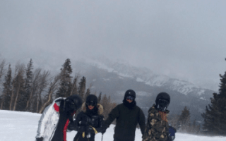 Khloe and Kim Kardashian in car crash on skiing trip in Montana
