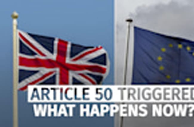 Article 50 triggered: What happens now?