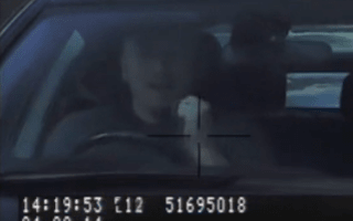 Video: Speeding driver celebrates prematurely