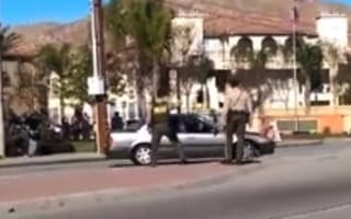 Car without a driver spins uncontrollably in California