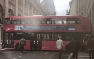 London bus driver's epic fail caught on camera