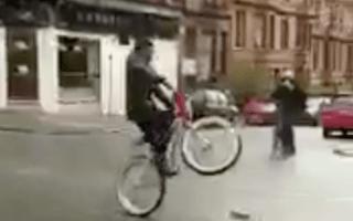 Former NFL player filmed popping a wheelie on Scottish road