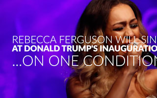 Rebecca Ferguson to sing at Trump inauguration - if she can perform protest song
