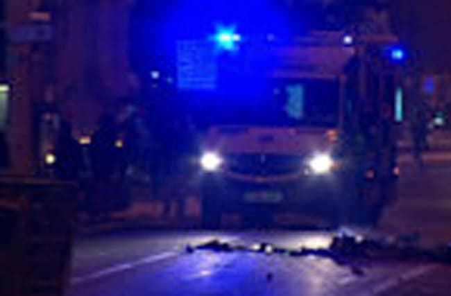 Police officers injured in London clashes
