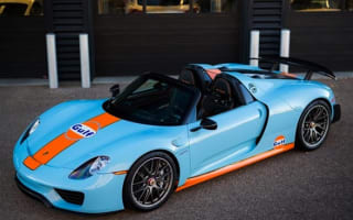 Porsche 918 Spyder in Gulf colours goes up for sale