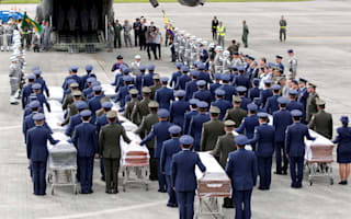 The coffins of the Chapecoense footballers killed in the air crash have arrived home in Brazil