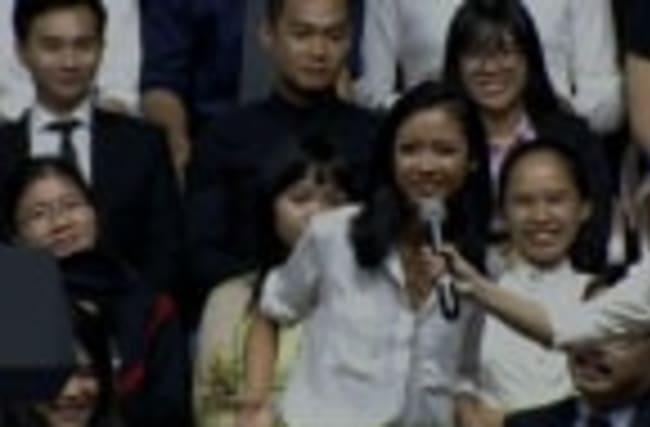 Vietnamese Rapper Raps for Obama