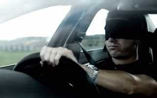 Video: Blindfolded racing driver in the new Volvo S60