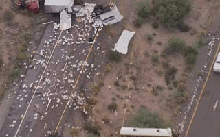 Arizona prison bus involved in interstate crash