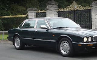 One lady owner, low mileage -  the Queen's Jag up for sale