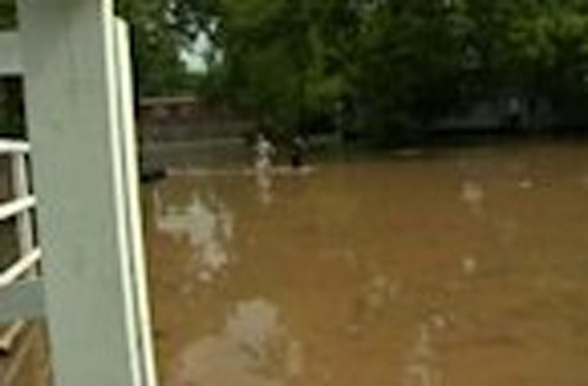 Texas River Crests At Record Level Tuesday